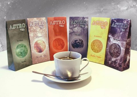 «Astro». Proyecto de packaging para línea de té