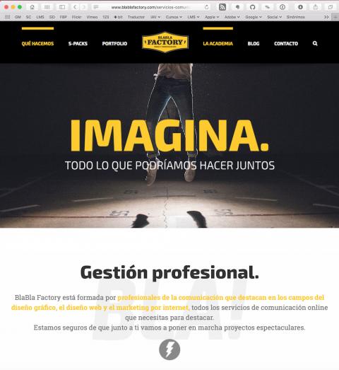 blablafactory.com. Proyecto web Luis García Cerdán