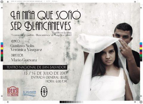 """Cartel """"La niña que soñó ser Blancanieves"""" de Jaime Martines Figueroa"""
