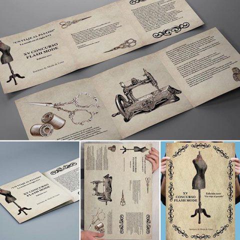 Concurso Flash mode, un viaje al pasado. Diseño de cartel de Marcela Turletti.