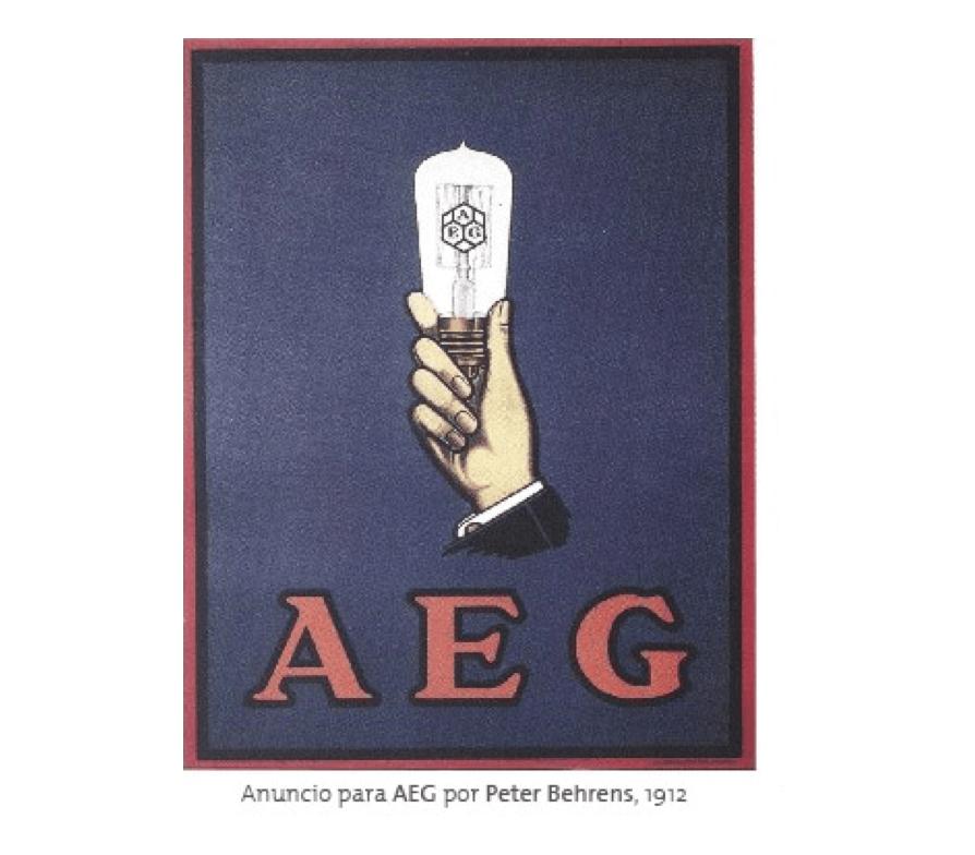 Estilo gráfico de AEG diseñado por Peter Behrens