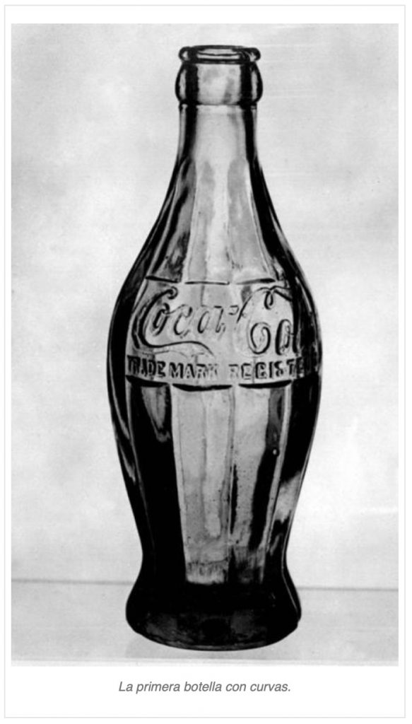 Coca Cola primera botella con curvas