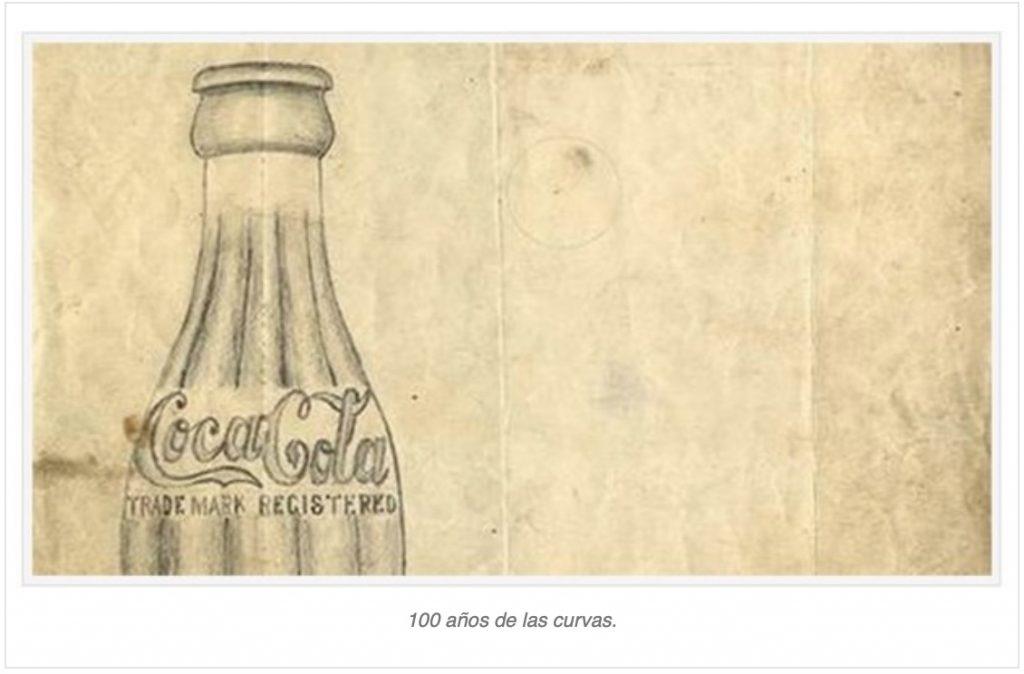 Coca Cola boceto de botella