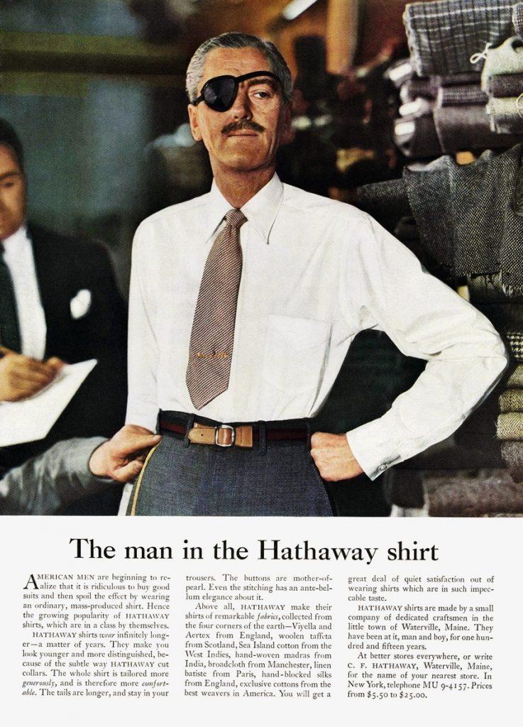 Ogilvy ReasonWhy Man in the Hathaway