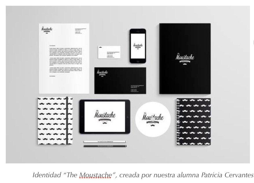 """Identidad Corporativa """"The Moustache"""" de Patricia Cervantes"""
