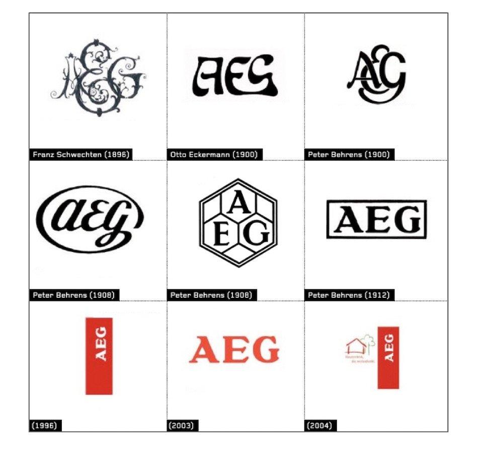 símbolo de la empresa AEG